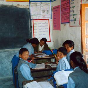 Tibeterschule-Ladakh-Klassenzimmer