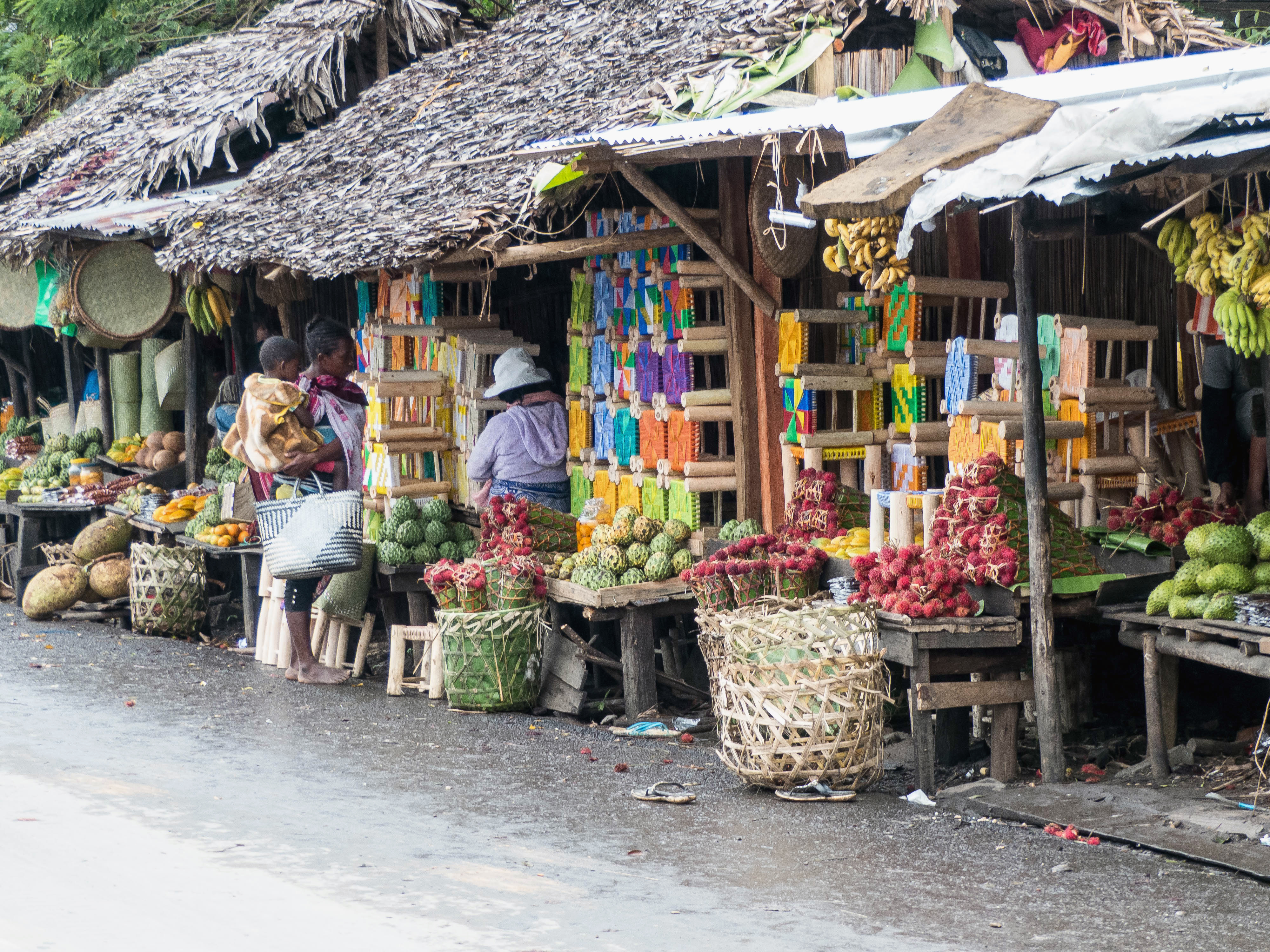 Madagaskar-Strasse-Verkaufsstaende