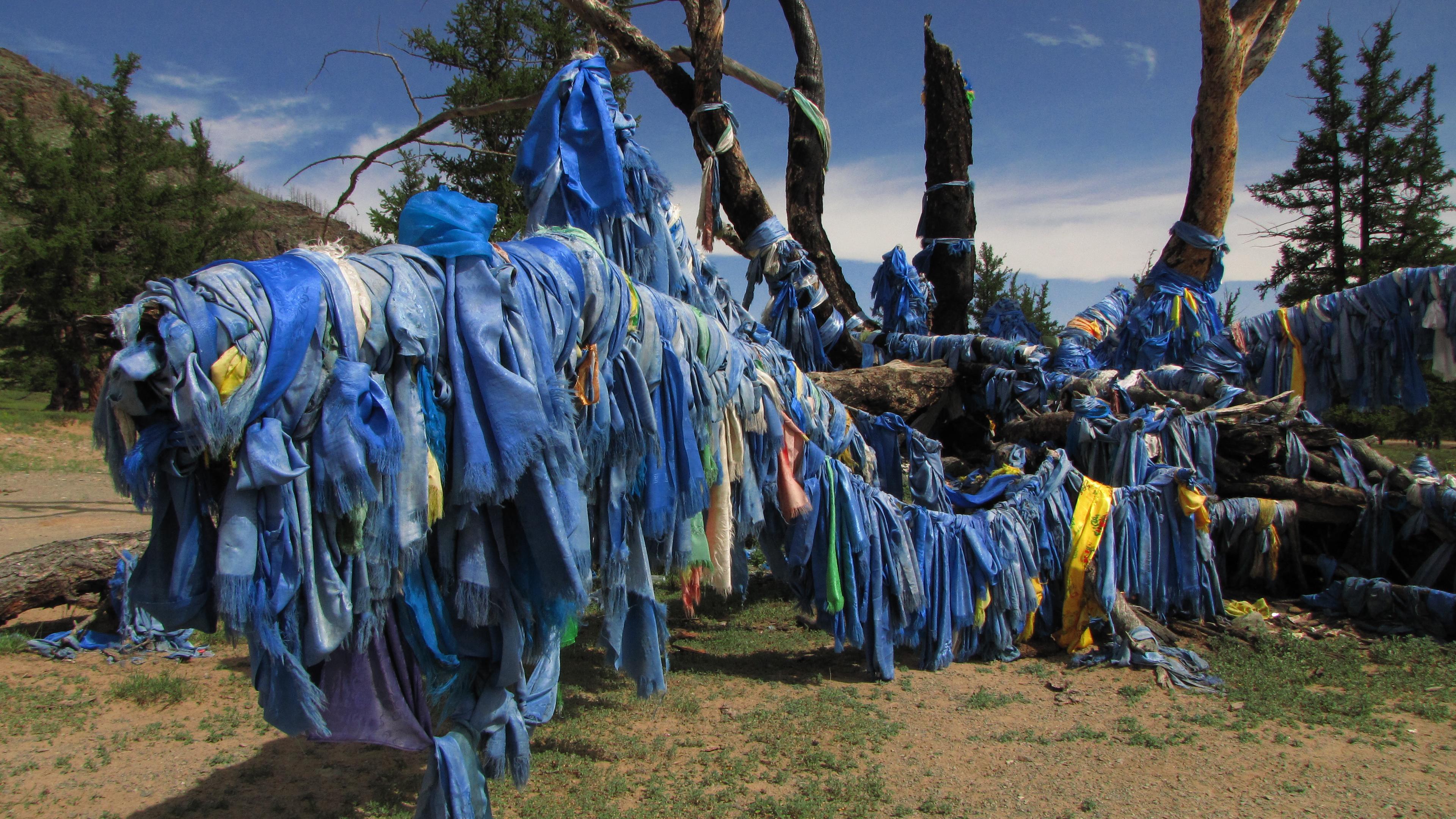 Opfer-Platz am Chulut-Fluss