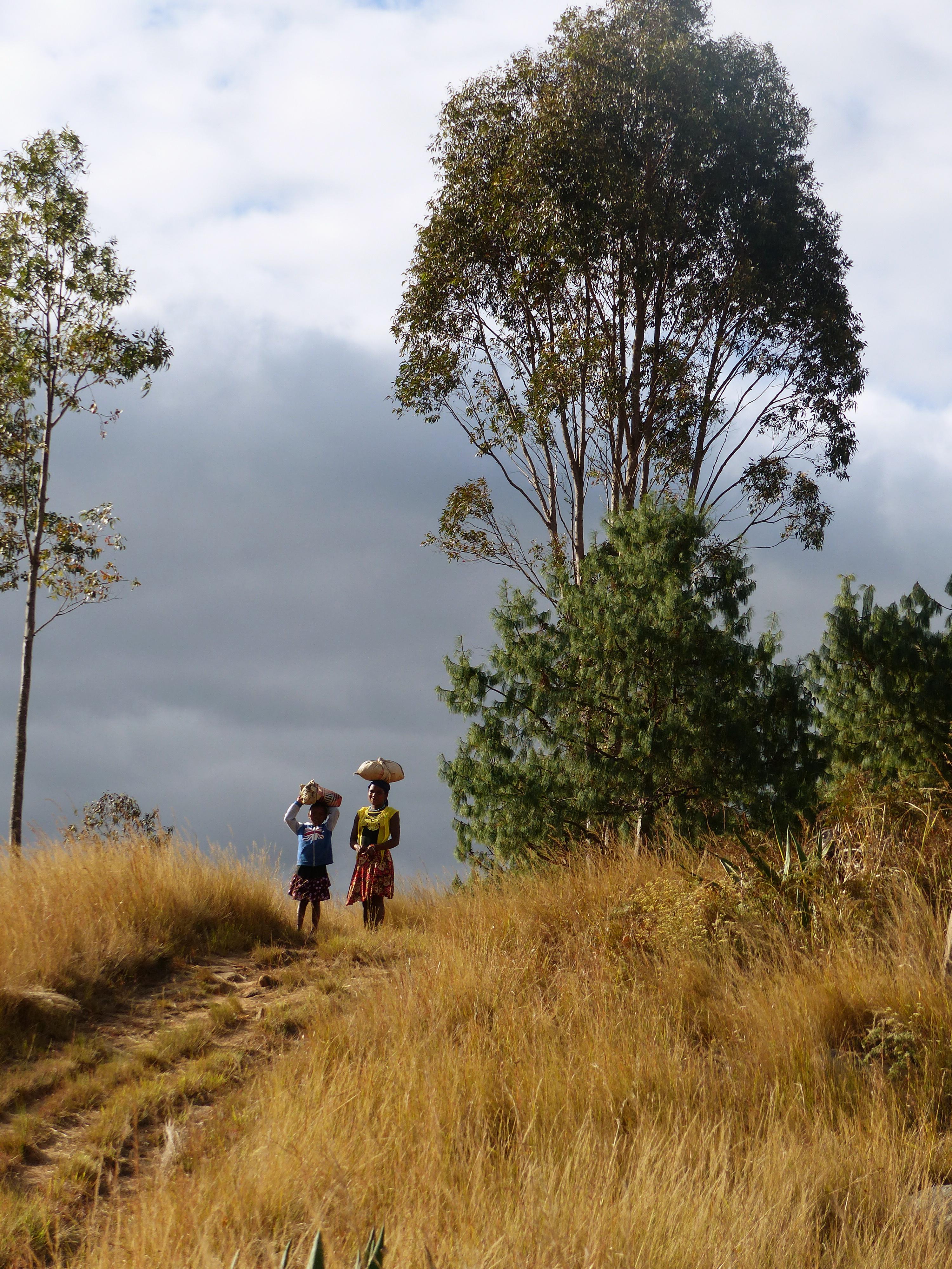 Madagaskar-Einheimische-unterwegs