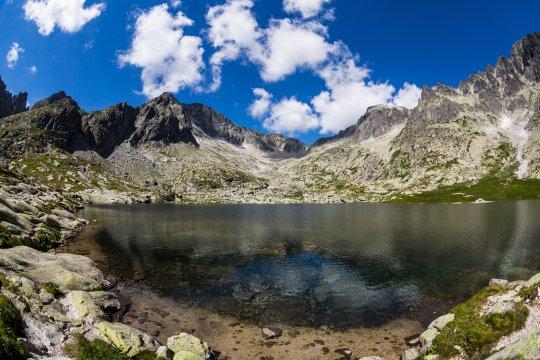 See und Gipfelkette von Teryho Chata