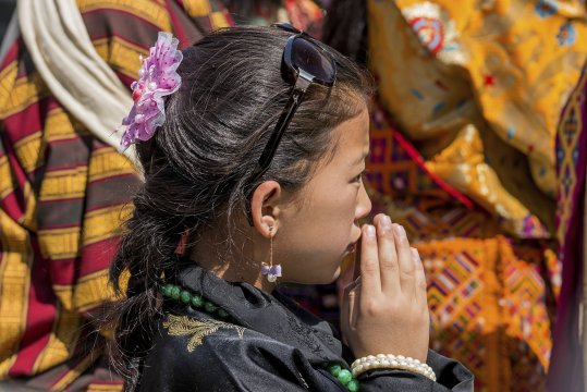 Andacht in Bhutan