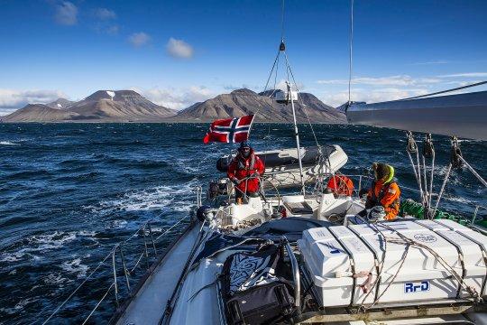 Segeln bei Wind und Wetter in Norwegen