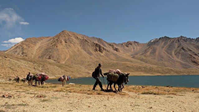 Auf der Etappe zu den Uchkul-Seen