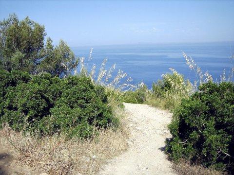 Wanderweg mit Blick aufs Meer