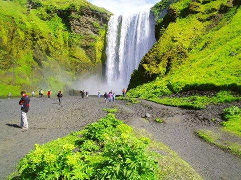 Skogafoss-Wasserfall