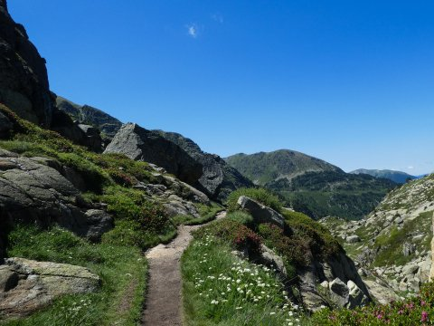 Bergpfad in Andorra