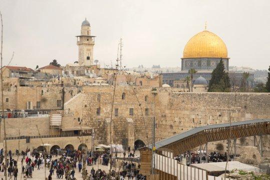 Israel jerusalem Blick ueber die Altstadt