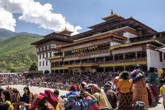 Thimphufest im Tashichho Dzong