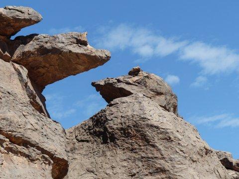 Felsformationen regen die Fantasie an
