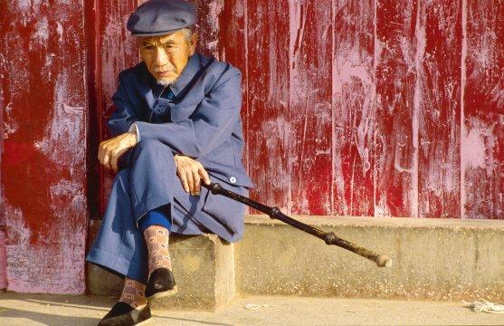 älterer Herr im Osten Chinas