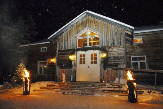Abendstimmung bei der Saija Lodge