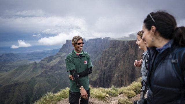 Blick vom Amphitheater in den Drakensbergen