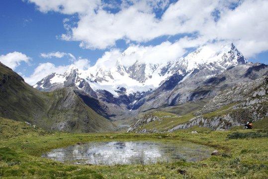 Cordillera Blanca Gletscherberg See