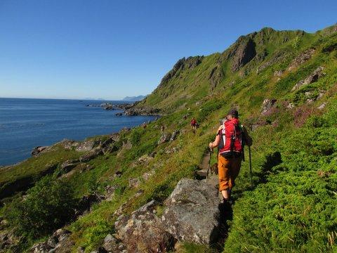 Wanderung auf den südlichen Lofoten