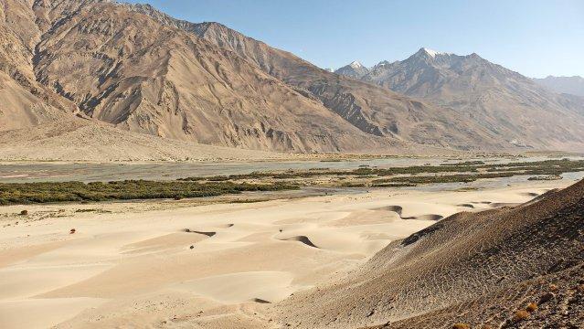 Wakhan-Korridor - Sanddünen am Panj