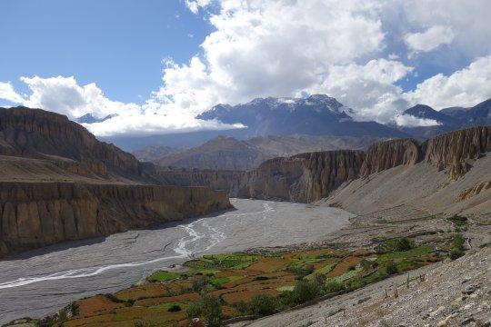 Flussbett des Kali Gandaki in Mustang