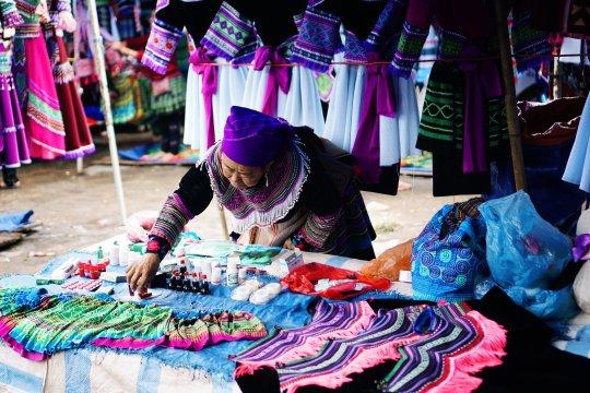 Marktstand in Bac Ha