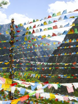 Gebetsfahnen Nepal