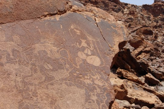 Namibia-Twyfelfontein-Namibia-Hölenmalerei