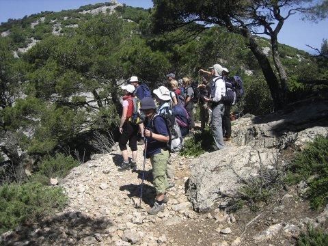 Wandergruppe in der Serra de Tramuntana