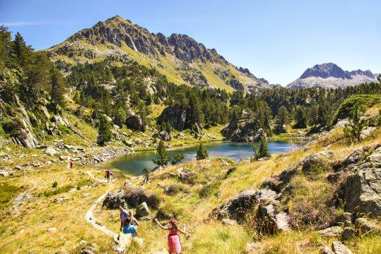 Pyrenaeen Ausflug zum Bergsee