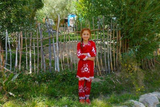Mädchen im Gunt-Tal