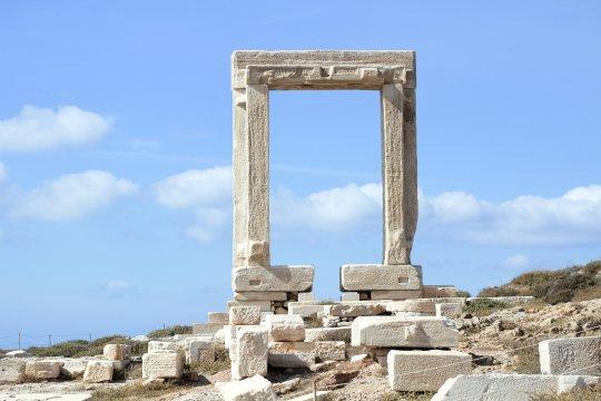 Kykladen Portara von Naxos