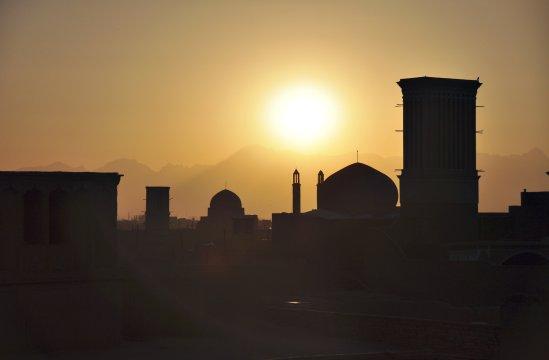 Sonnenuntergang ueber Yazd_2