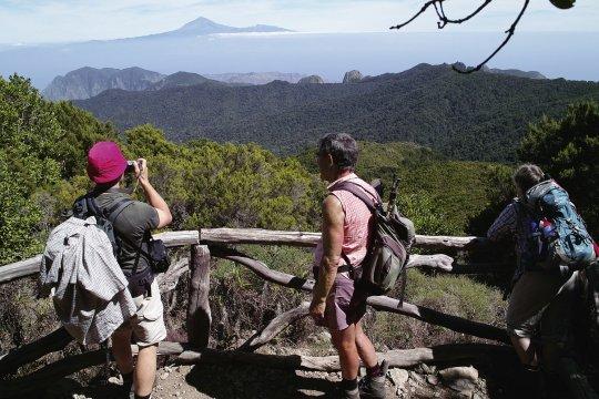 Ausblick zum Teide von La Gomera