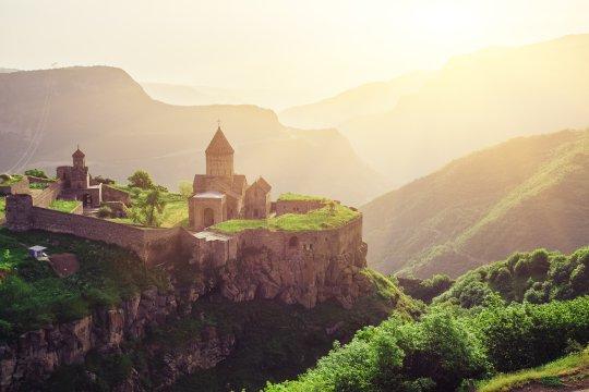 Blick auf den Klosterkomplex Tatev