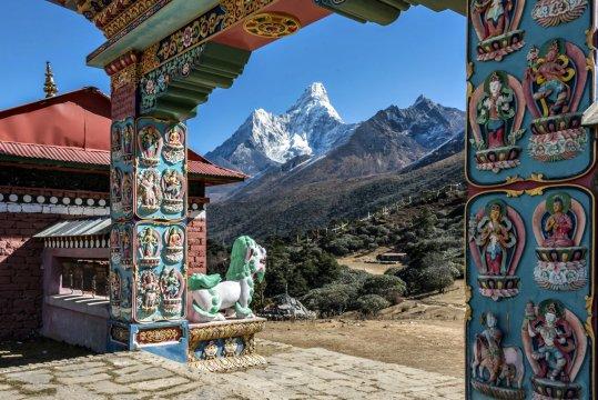 Blick auf die Ama Dablam von Tengpoche