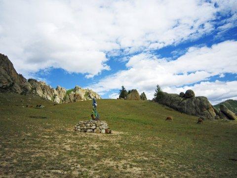Heiliger Platz in der Mongolei