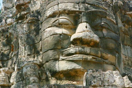 Gesicht aus Stein Ankor Wat
