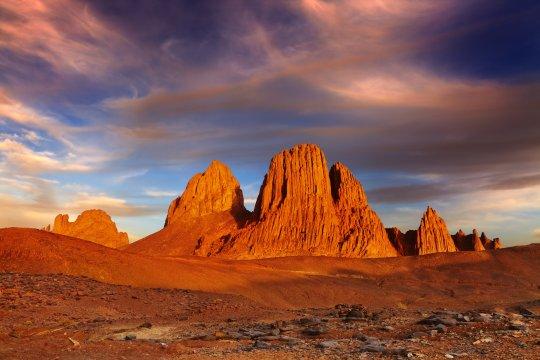 Algerien - Hoggar-Gebirge - Basaltsäulen am Assekrem