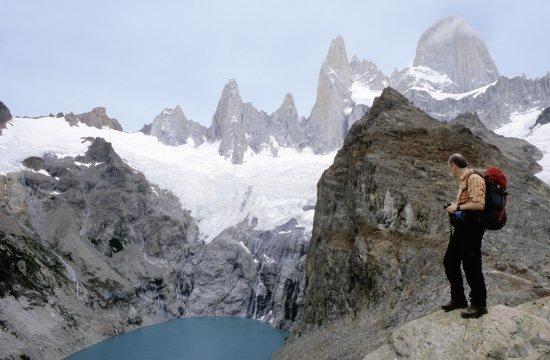 Panorama mit Gletschersee