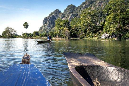 Bootsfahrt zur Hpaan Sadaan Höhle