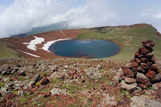 Mt Ajdahak Kratersee Gipfel