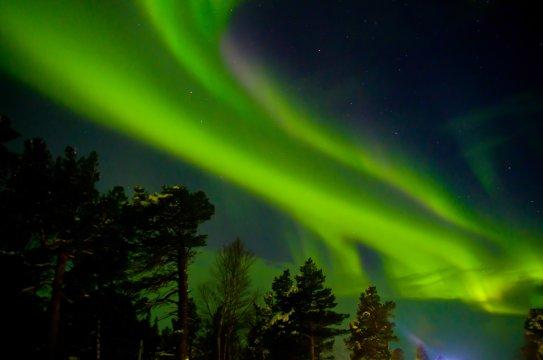Polarlichter Schwedisch Lappland