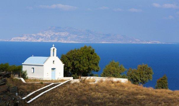 Naxos Kapelle mit Meerblick