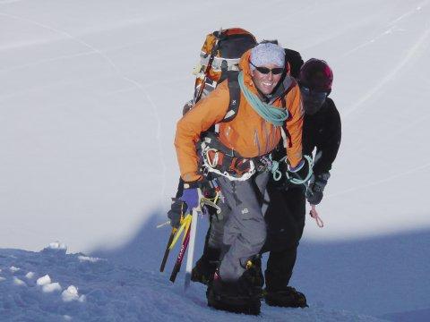 Pollux_Anstieg zum Gipfel