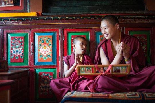 Mönche in Kathmandu