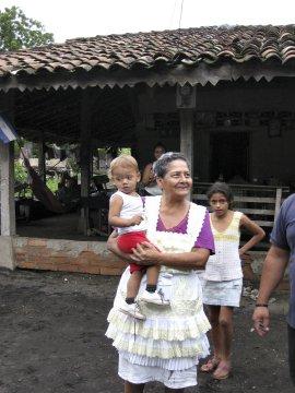 Einhemische Familie Kind Frau