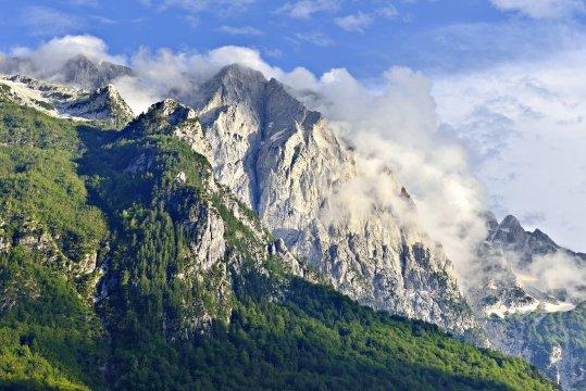 Berggipfel Valbona Tal