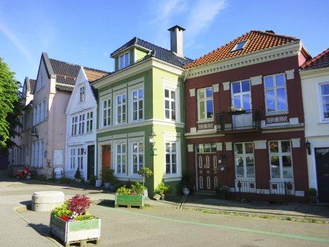 Fjord Norwegen Bergen Altstadt