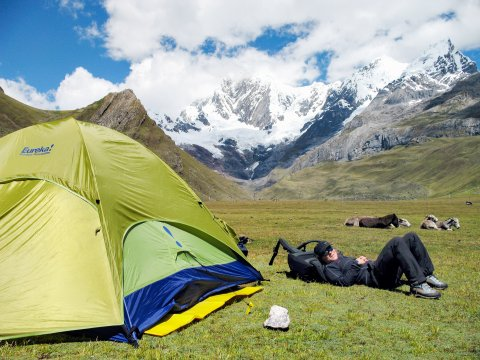 Lagerplatz in der Cordillera Blanca