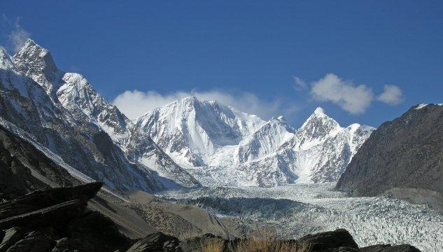 Passu-Gletscher mit Passu Peak