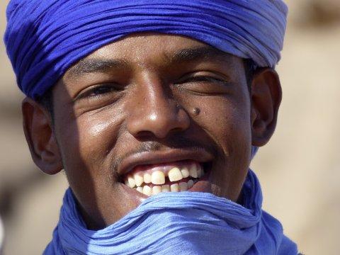 Tuareg Begleiter beim Trekking