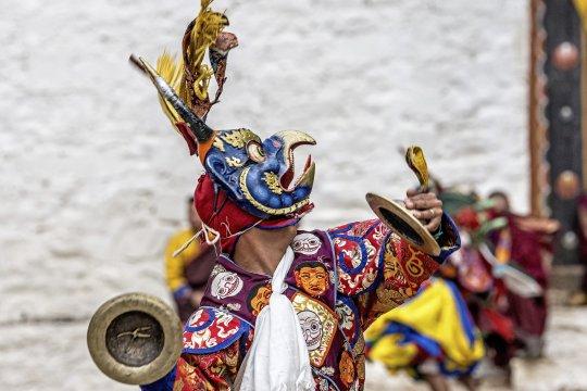 Maskentanz in Bhutan
