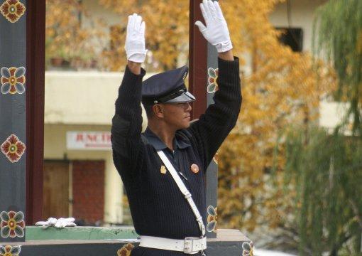 Verkehrspolizist in Thimphu
